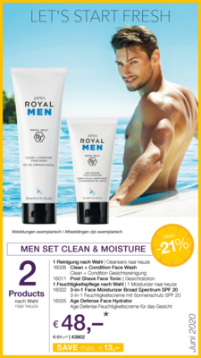 Men Set Clean & Moisture